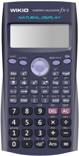 Calculatrice scientifique. Source : http://data.abuledu.org/URI/520c0341-calculatrice-scientifique