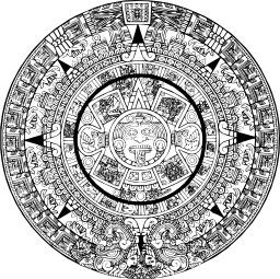 Calendrier aztèque. Source : http://data.abuledu.org/URI/540a0d32-calendrier-azteque