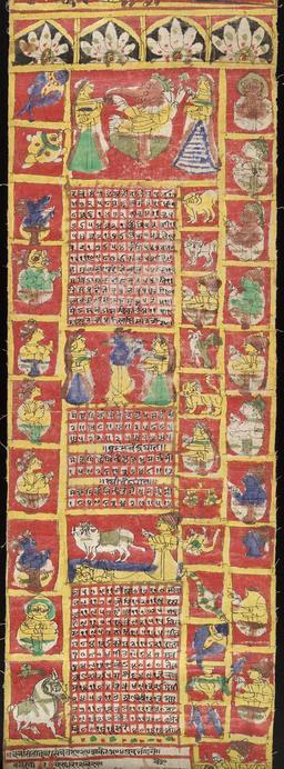 Calendrier hindou de 1871-72. Source : http://data.abuledu.org/URI/5336bfce-calendrier-hindou-de-1871-72