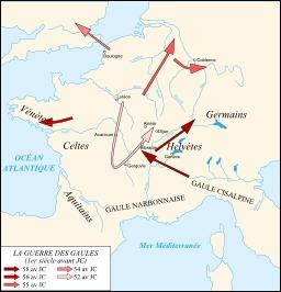 Campagnes de César en Gaule. Source : http://data.abuledu.org/URI/51ce124a-campagnes-de-cesar-en-gaule