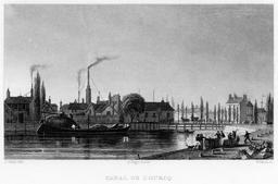 Canal de l'Ourcq en 1831. Source : http://data.abuledu.org/URI/58703d1f-canal-de-l-ourcq-en-1831