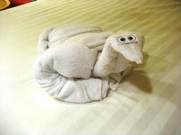 Canard en serviette de bain. Source : http://data.abuledu.org/URI/5342563c-canard-en-serviette-de-bain
