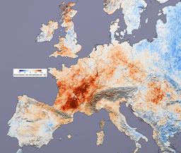 Canicule de 2003 en Europe. Source : http://data.abuledu.org/URI/5236e1bb-canicule-de-2003-en-europe