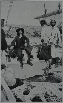 Capture du pirate Stede Bonnet par le Colonel Rhett. Source : http://data.abuledu.org/URI/52c013e9-capture-du-pirate-stede-bonnet-par-le-colonel-rhett