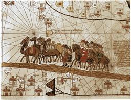 Caravane de Marco Polo en 1375. Source : http://data.abuledu.org/URI/53b410c8-caravane-de-marco-polo-en-1375