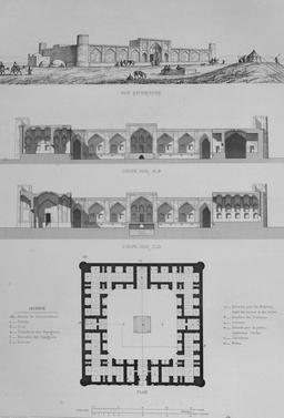 Caravansérail de Passencan en 1840. Source : http://data.abuledu.org/URI/5651f407-caravanserail-de-passencan-en-1840