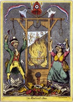 Caricature anglaise de la Révolution française. Source : http://data.abuledu.org/URI/50fc7cec-caricature-anglaise-de-la-revolution-francaise