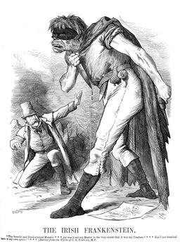 Caricature de Frankenstein sanguinaire. Source : http://data.abuledu.org/URI/52ad9b6d-caricature-de-frankenstein-sanguinaire