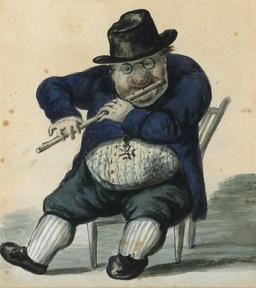 Caricature de Giacomo Quarenghi. Source : http://data.abuledu.org/URI/541d8555-caricature-de-giacomo-quarenghi