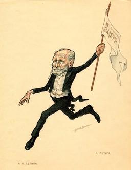 Caricature de Marius Petipa. Source : http://data.abuledu.org/URI/502d70b7-caricature-de-marius-petipa