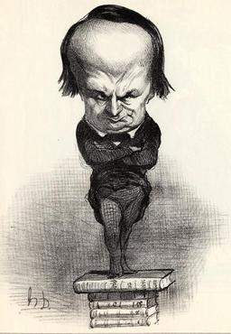 Caricature de Victor Hugo. Source : http://data.abuledu.org/URI/51a514fe-caricature-de-victor-hugo