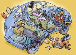 Caricature de voiture. Source : http://data.abuledu.org/URI/50c852db-caricature-de-voiture