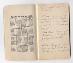 Carnet manuscrit allemand de 1900. Source : http://data.abuledu.org/URI/531c73a6-carnet-manuscrit-allemand-de-1900