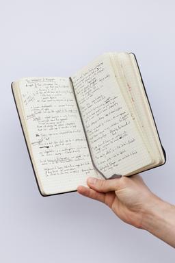 Carnet manuscrit de notes en anglais. Source : http://data.abuledu.org/URI/531c7552-carnet-manuscrit-de-notes-en-anglais