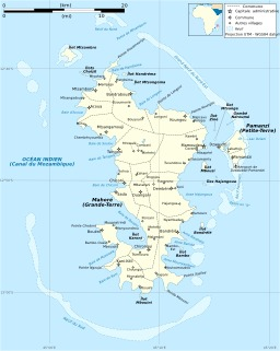Carte administrative de Mayotte. Source : http://data.abuledu.org/URI/5078890b-carte-administrative-de-mayotte