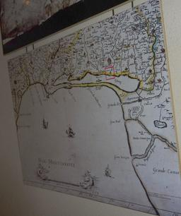 Carte ancienne à Lattes. Source : http://data.abuledu.org/URI/58d4baaf-carte-ancienne-a-lattes