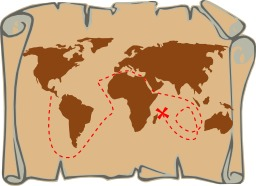 Carte aux trésors. Source : http://data.abuledu.org/URI/47f582bb-carte-aux-tresors
