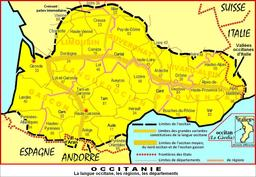Carte d'Occitanie. Source : http://data.abuledu.org/URI/56a48e66-carte-d-occitanie
