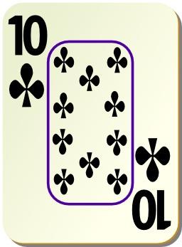 Carte de 10 de trèfle. Source : http://data.abuledu.org/URI/504a2059-carte-de-10-de-trefle