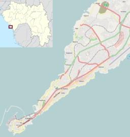 Carte de Conakry en Guinée. Source : http://data.abuledu.org/URI/508d05d9-carte-de-conakry-en-guinee
