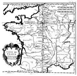 Carte de France de 1723. Source : http://data.abuledu.org/URI/50885acf-carte-de-france-de-1723