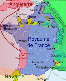 Carte de France en 1328. Source : http://data.abuledu.org/URI/5070895d-carte-de-france-en-1328