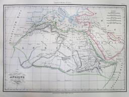 Carte de l'Afrique du Nord ancienne en 1837. Source : http://data.abuledu.org/URI/53f4f94e-carte-de-l-afrique-du-nord-ancienne-en-1837