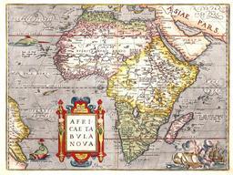 Carte de l'Afrique en 1570. Source : http://data.abuledu.org/URI/52d04a33-carte-de-l-afrique-en-1570