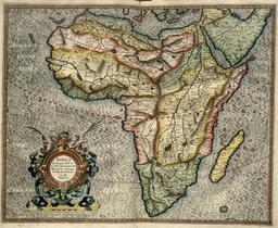 Carte de l'Afrique par Mercator en 1595. Source : http://data.abuledu.org/URI/52d04aed-carte-de-l-afrique-par-mercator-en-1595