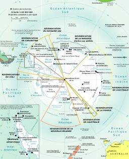 Carte de l'Antarctique. Source : http://data.abuledu.org/URI/51ca2bda-carte-de-l-antarctique
