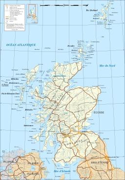Carte de l'Écosse. Source : http://data.abuledu.org/URI/52093b7a-carte-de-l-ecosse