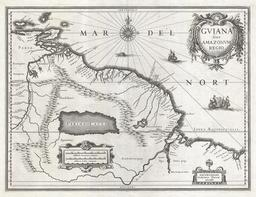 Carte de l'Eldorado en 1635. Source : http://data.abuledu.org/URI/55cf2c79-carte-de-l-eldorado-en-1635