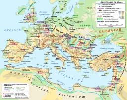 Carte de l'empire romain en 125. Source : http://data.abuledu.org/URI/52d120a3-carte-de-l-empire-romain-en-125