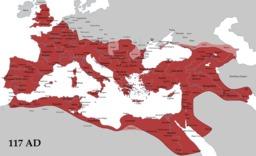 Carte de l'empire romain et de ses limes sous Trajan. Source : http://data.abuledu.org/URI/546bf470-carte-de-l-empire-romain-et-de-ses-limes-sous-trajan