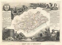 Carte de l'Hérault en 1852. Source : http://data.abuledu.org/URI/531f36a2-carte-de-l-herault-en-1852