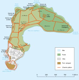 Carte de l'Île-d'Aix. Source : http://data.abuledu.org/URI/548d854a-carte-de-l-ile-d-aix