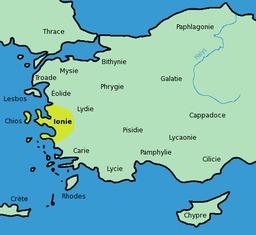 Carte de l'Ionie. Source : http://data.abuledu.org/URI/505ebab1-carte-de-l-ionie