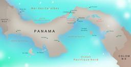 Carte de l'isthme de Panama. Source : http://data.abuledu.org/URI/51bed4ae-carte-de-l-isthme-de-panama
