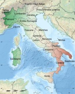 Carte de l'Italie. Source : http://data.abuledu.org/URI/51d1a9d3-carte-de-l-italie