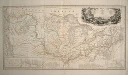 Carte de l'itinéraire de Maximilien de Wield en 1832-34. Source : http://data.abuledu.org/URI/564d0cc6-carte-de-l-itineraire-de-maximilien-de-wield-en-1832-34
