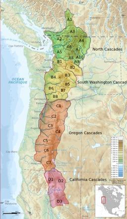 Carte de la Chaîne des Cascades. Source : http://data.abuledu.org/URI/506bd8af-carte-de-la-chaine-des-cascades