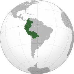Carte de la Communauté des Andes. Source : http://data.abuledu.org/URI/52592daa-carte-de-la-communaute-des-andes