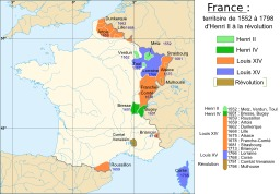 Carte de la France de 1552 à 1798. Source : http://data.abuledu.org/URI/52d00f68-carte-de-la-france-de-1552-a-1798