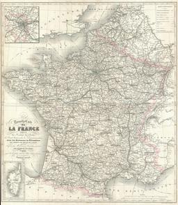 Carte de la France en 1852. Source : http://data.abuledu.org/URI/531caaba-carte-de-la-france-en-1852