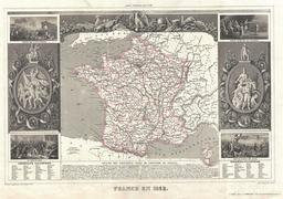 Carte de la France en 1852. Source : http://data.abuledu.org/URI/531cab73-carte-de-la-france-en-1852