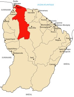 Carte de la Guyane, Mana. Source : http://data.abuledu.org/URI/527776b4-carte-de-la-guyane-mana