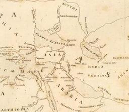 Carte de la Méditerranée orientale par Strabon. Source : http://data.abuledu.org/URI/554c9e9e-carte-de-la-mediterranee-orientale-par-strabon