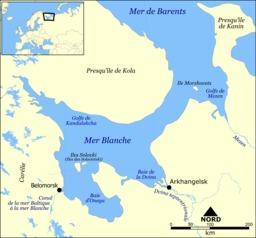 Carte de la Mer Blanche. Source : http://data.abuledu.org/URI/50e74e6a-carte-de-la-mer-blanche
