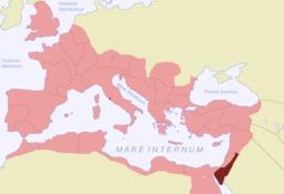 Carte de la province romaine d'Arabie. Source : http://data.abuledu.org/URI/546b6d74-carte-de-la-province-romaine-d-arabie