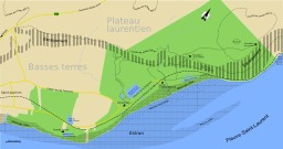 Carte de la réserve du Cap Tourmente au Québec. Source : http://data.abuledu.org/URI/50fde64f-carte-de-la-reserve-du-cap-tourmente-au-quebec